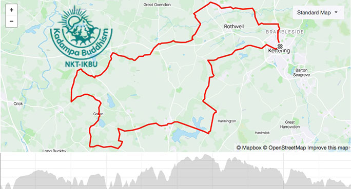 World Peace Cafe at Thornby : training ride with Andy Parker